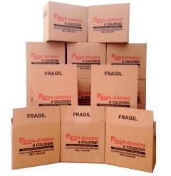 Cajas de cartón para mudanzas con etiqueta fragil