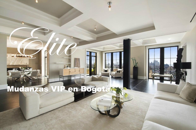 Apartamento amoblado con objetos de lujo, cuadros, esculturas y otras obras de arte, para una mudanza VIP en Bogotá
